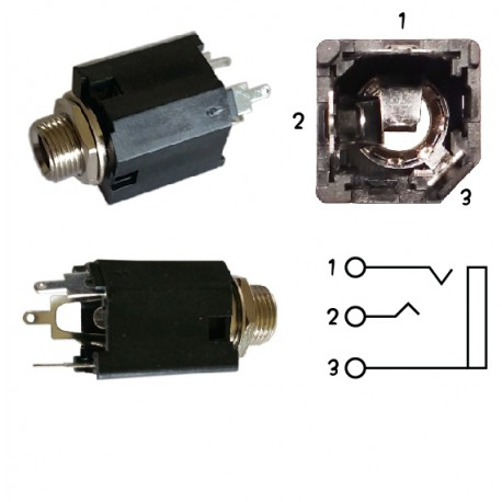 """1/4"""" Audio Jack - Stereo Enclosed"""