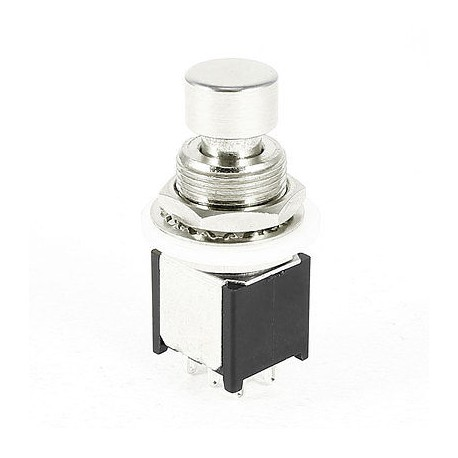 DPDT Compact Latching Pushbutton Switch - Solder Lugs