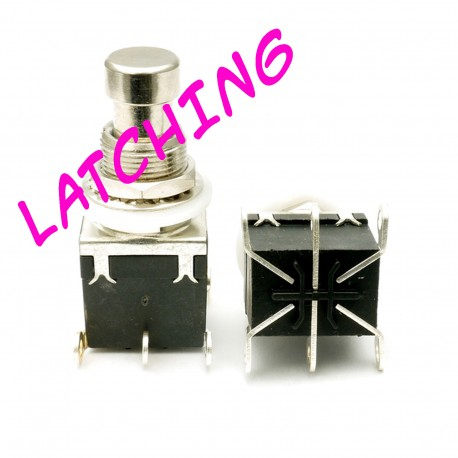 DPDT X-Wing Latching Pushbutton Switch